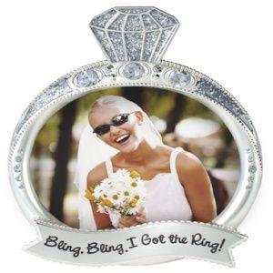 MALDEN Jewel & Glitter Bling Ring Picture Frame